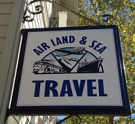 Air Land & Sea Travel Door Logo